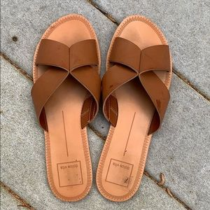Dolce vita leather sandals slide on
